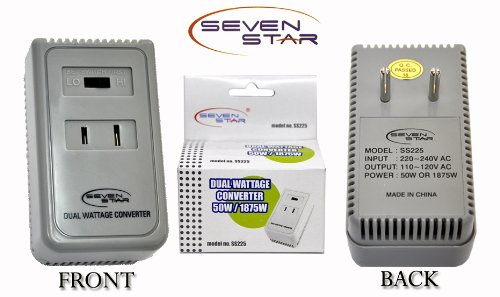 1875 Watts Travel Voltage Converter For Using 110V Usa Products In 220V/240V Countries. Great For Travelling. front-296348