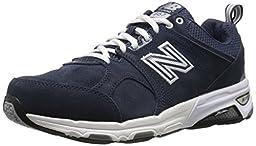 New Balance Men\'s MX857V1 Training Shoe, Navy/White, 7 D US