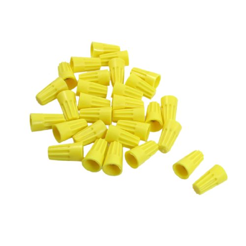 Amico 30 Pcs P4 Electrical Female Wiring Connectors Wire Nut Yellow