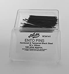 Ento Pins, Black Steel Insect Pins, Size 4