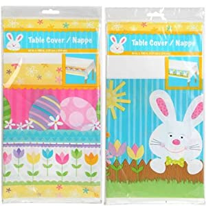 Easter Bunny Table Cover - 54 X 108 (Qty 1)