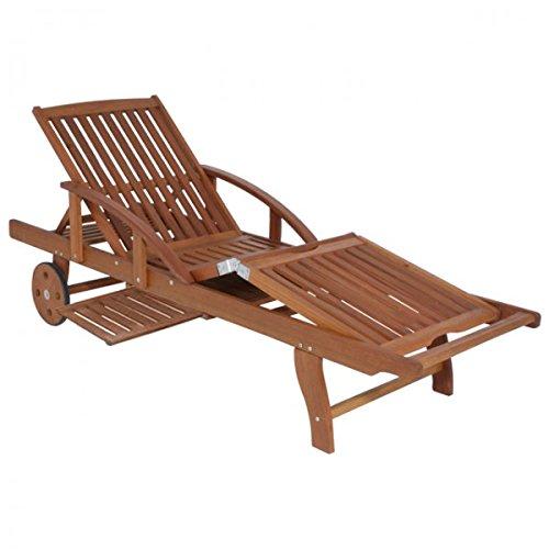 Garden Pleasure Sonnenliege Eukalyptus Holz Sunlounger Garten Liege Holzliege Relaxliege