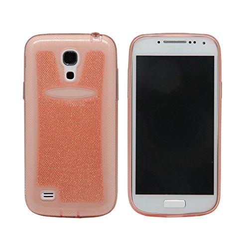 elecdorith Ultra Slim TPU Case Silikon Tasche Schutzhülle für Samsung Galaxy S4 mini i9190, Samsung Galaxy S4 mini Hülle (Samsung Galaxy S4 mini, rosa)