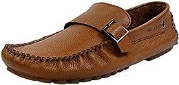 Shoe Bazar Tan Leather Loafers B01LZPJZRE
