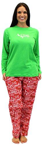 Sleepytimepjs Women'S Christmas Flannel Pajama Sets-Chr-L front-752460
