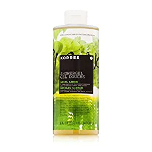 Korres Showergel, Basil Lemon, 13.53 Ounce