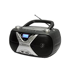unirex rx 906u portable stereo cd mp3 player with usb port and secure digital card. Black Bedroom Furniture Sets. Home Design Ideas