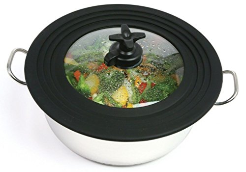Sunnyfly 627 Smart Universal Lid For Pots And Pans Vent Control On Handle (Universal Microwave Crisper Pan compare prices)