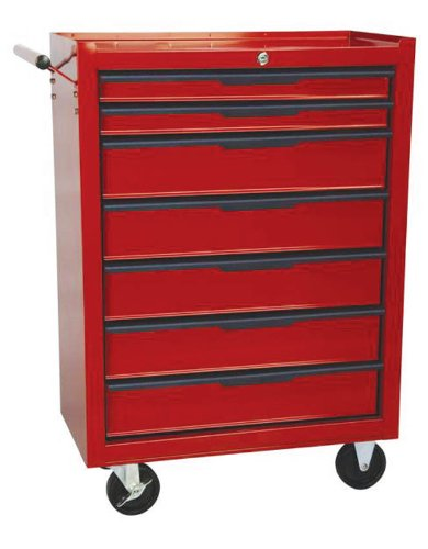 7 Drawer Mobile Trolley With Ball Bearing Slides
