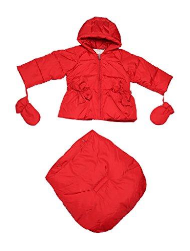 Oceankids Baby Girls Newborn Pram Down Bunting Snowsuit Detachable Bottom Red 12M 9-12 Months