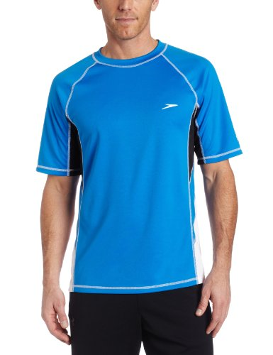 Speedo Mens Splice With Mesh Rashguard Swim Tee