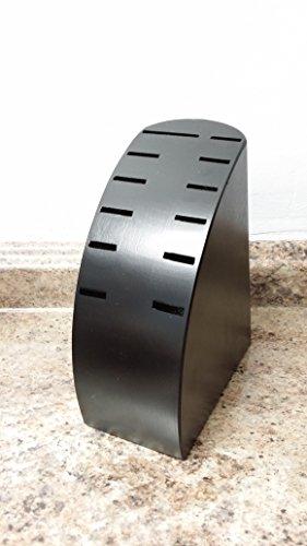 Zitech Black Wooden Knife Storage Block