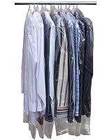 Hangerworld - Lot de 50 housses de rangement pour vêtements en polyéthylène transparent - 96.5cm.