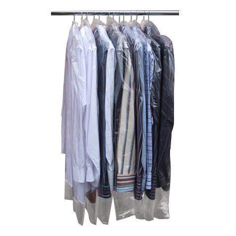 Hangerworld Pack of 50 Clear Polythene Garment Covers - 38 Inches - Ideal Length for Pants, Shirts, Skirts etc. (Disposable Plastic Garment Bags compare prices)