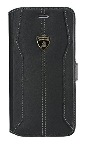エアージェイ ランボルギーニ(Lamborghini)公式ライセンス品 iPhone6 4.7インチ専用 本革 手帳型ケース ウラカンD-1ブラック LB-SSHFCIP6S-HU/D1BK