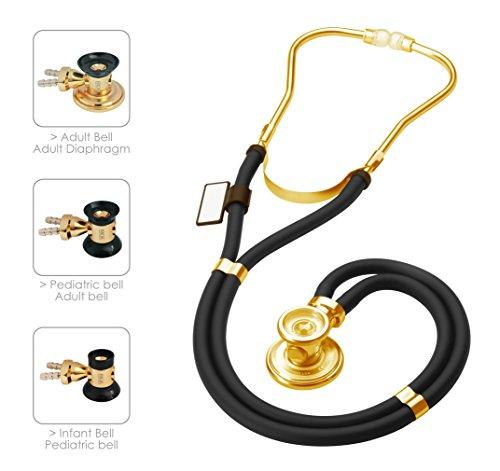 MDF Sprague Rappaport Dual Head Stethoscope with Adult, Pedi