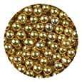 Golda's Kitchen Dragees 4-Ounce Sugar Cake Cupcake Cookie Sprinkles, 4mm, Gold