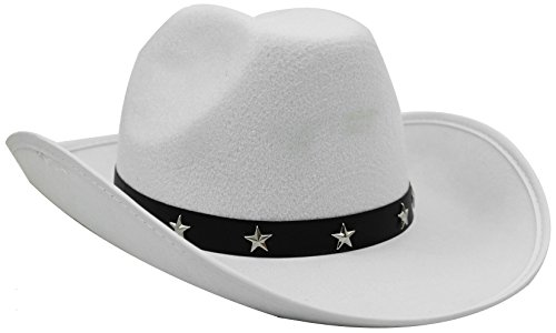 COWBOY STAR con cappello IN primo piano a FANCY accessori per Costume da donna IN Nero, Marrone, Rosa o bianco a COWBOY COWGIRL cappelli WILD WEST