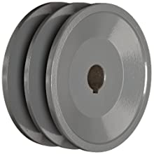 "TB Woods 2BK3658 FHP Bored-To-Size, 3.75"" Outside Body Diameter, 0.625"" Bore Diameter V-Belt Sheave"