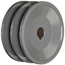 """TB Woods 2BK3658 FHP Bored-To-Size, 3.75"""" Outside Body Diameter, 0.625"""" Bore Diameter V-Belt Sheave"""