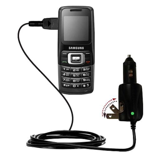 Intelligent Dual Purpose Dc Vehicle And Ac Home Wall Charger Suitable For The Samsung Sgh-B130 - Two Critical Functions, One Unique Charger - Uses Gomadic Brand Tipexchange Technology