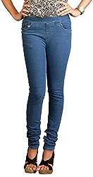 Fashion Stylus Women's Jeggings (FST-604-38, Blue, 38)