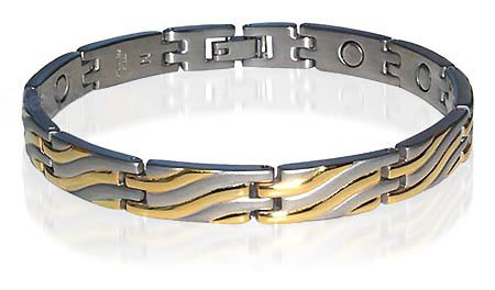 New Strong Stainless Steel Magnetic Link Bracelet 8.5″
