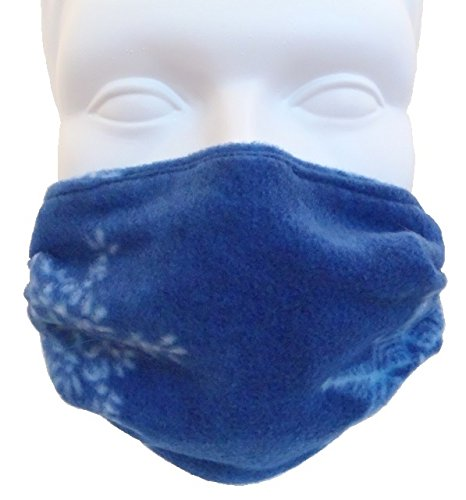 Fleece-Double-Layer-Face-Mask-Snowflake-Child-Size-Comfortable-Washable-Reversible-Ourdoor-Mask