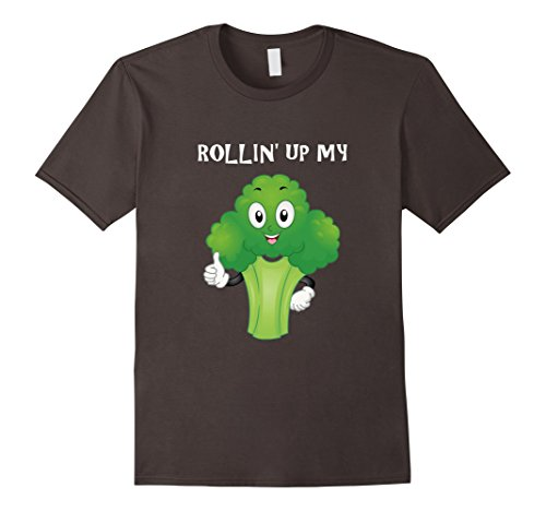 Funny-Rollin-Up-My-Broccoli-Vegetable-Weed-T-shirt