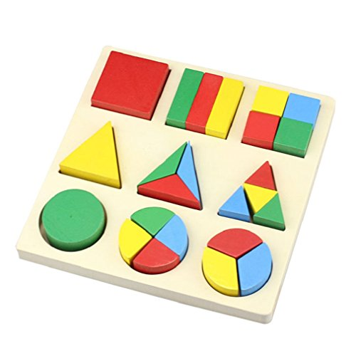 Towallmark(Tm)Kid Geometric Blocks Puzzle Children Educational Learning Wooden Toy