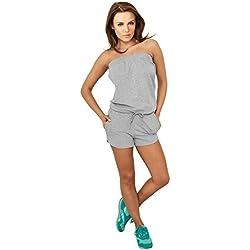 Urban Classics Ladies Hot Jumpsuit Tuta grigio XL