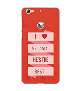 LE ECO LE 1S I LOVE DAD Back Cover by PRINTSWAG