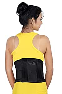Wonder Care Wonder Care Neoprene Contour Lumber Spinal Back Support Belt with double elastic strap Medium