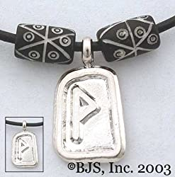 Wunjo Rune Necklace - Elder Futhark Rune Tablet Necklaces