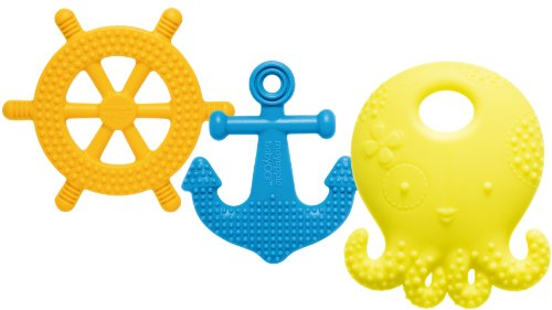 Mayapple Baby® - Suri™ The Octopus And Friends Teether - 3 Silicone Teething Toys - Lemon Set