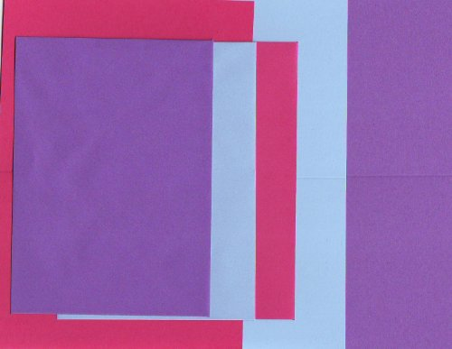 Woodware Blank Card Pack With Matching Envelopes A5 Folds to A6 - 18 Cards In 3 Fuschia Shades
