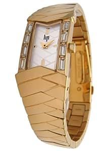 Lip - 10831412 - Montre Femme - Quartz Analogique - Cadran Blanc - Bracelet en Métal Jaune