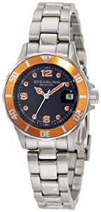 Stuhrling Original Women's 157.111157 Nautical Regatta Lady Clipper Swiss Quartz Mother of Pearl stainless steel bracelet Diver Watch