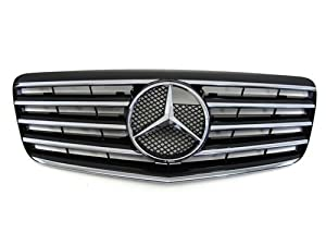 07 08 09 Mercedes-Benz E350 W211 Black Front Grille CL Style with 5 Chrome Fence