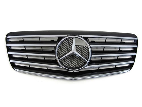 07 08 09 mercedes benz e350 w211 black front grille cl for Mercedes benz grill