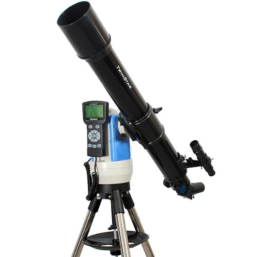 Twinstar Black 70Mm Ioptron Computer Controlled Refractor Telescope