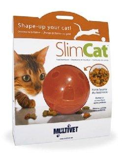 Cat Toy Feeder Ball Multivet Slimcat (Orange)