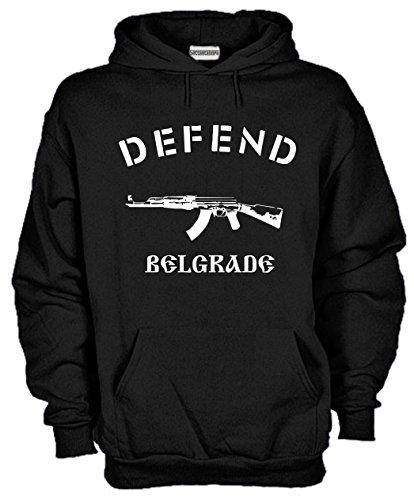Settantallora - Felpa Con Cappuccio KJ502 Defend Belgrade Taglia M