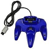 echange, troc abcGOODefg® Wired Vidéo Gamepad Controller Console Joystick pour Nintendo N64 (Bleu)