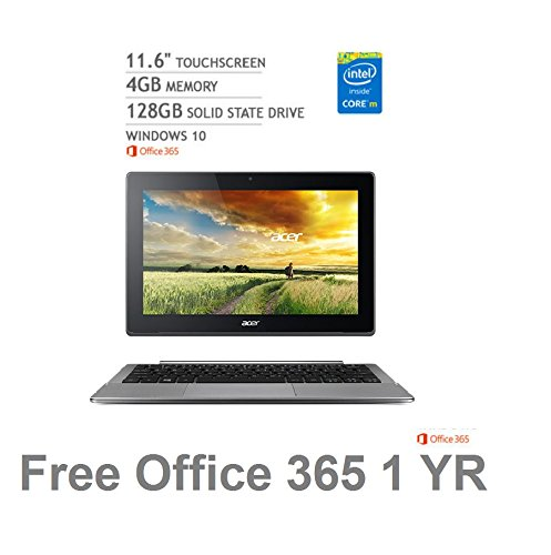 Click to buy 2016 Newest Acer Aspire Switch 11 V Touchscreen 2-in-1 Laptop(Intel Core M-5Y10c,4GB RAM, 128GB SSD, Windows 10, Office 365 Personal (1-year) - From only $6715.4