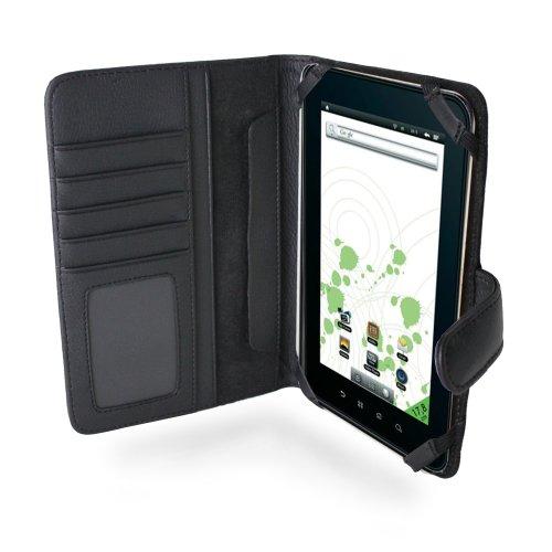 Navitech 7 Zoll bycast Leder flip Trage Case / Cover im Buch Stil für das Chiligreen E-Board HT400 (Chiligreen E-Board HT400, schwarz)