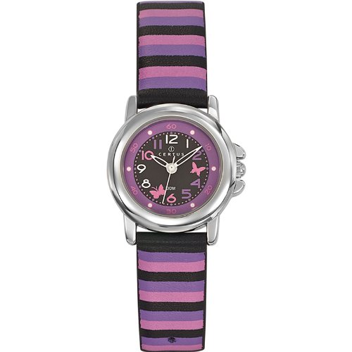 Certus Unisex Watch - Analogue Quartz - Black Dial - Leather Strap - 647550 Multi-Coloured