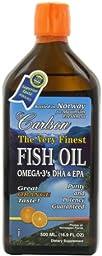 Carlson Labs Very Finest Liquid Fish Oil, Orange, 500ml