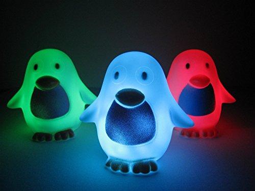 Liroyal Color Change Decoration LED Lamp Night Light Candle Flash Kids Penguin