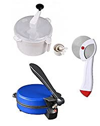JOHN RICHARD COMBO OF NATIONAL BLUE DETACHABLE ROTIMAKER, DOUGH MAKER AND PIZZA CUTTER